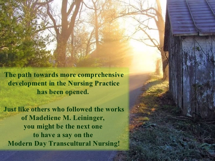 The path towards more comprehensive development in the Nursing Practice has been opened.  Just like others who followed th...