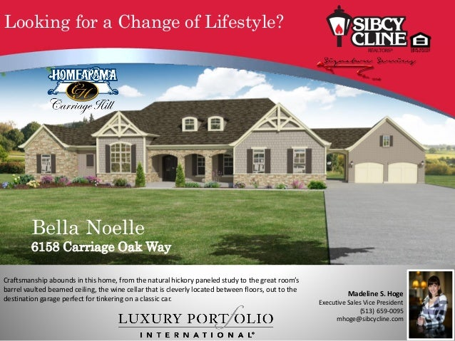 Bella Noelle 6158 Carriage Oak Way Craftsmanship abounds in this home, from the natural hickory paneled study to the great...