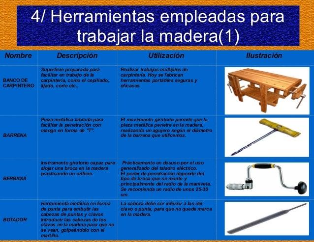 Madera - Herramientas de carpinteria nombres ...