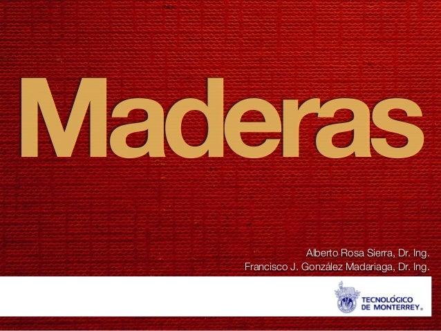 Maderas Alberto Rosa Sierra, Dr. Ing. Francisco J. González Madariaga, Dr. Ing.
