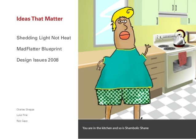 Ideas That MatterShedding Light Not HeatMadFlatter BlueprintDesign Issues 2008Charles SheppaLuke PirieRob Cape            ...