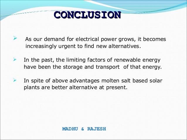 Solar Power By Molten Salt Technology