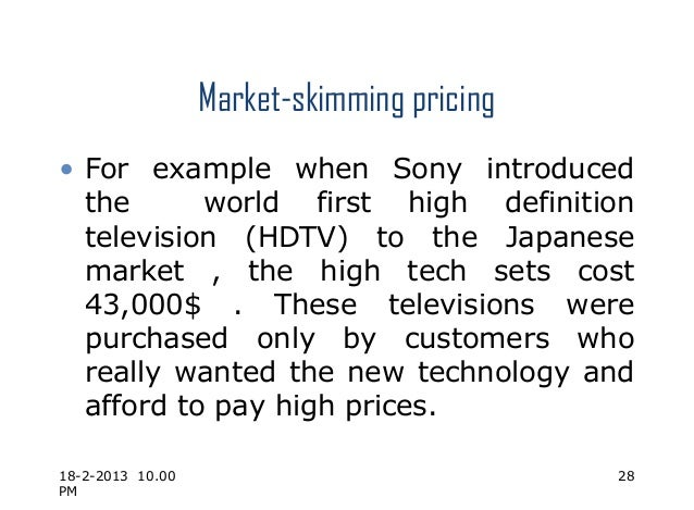 pricing strategies of sony By using the concept of differential pricing strategy, playstation is able to  maximize  these stores also host other sony products in line with playstation  brand.