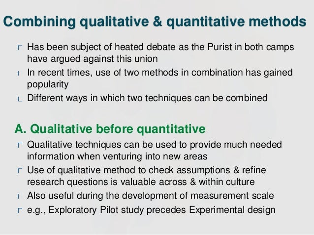 The advantages of qualitative research