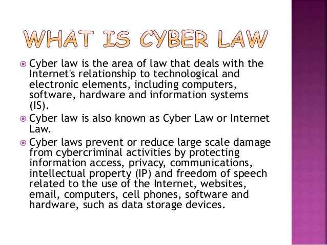 cyber law note Introduction to cyber law 1 a friend of x, with x permission, access x's laptop and note down passwords of main server.