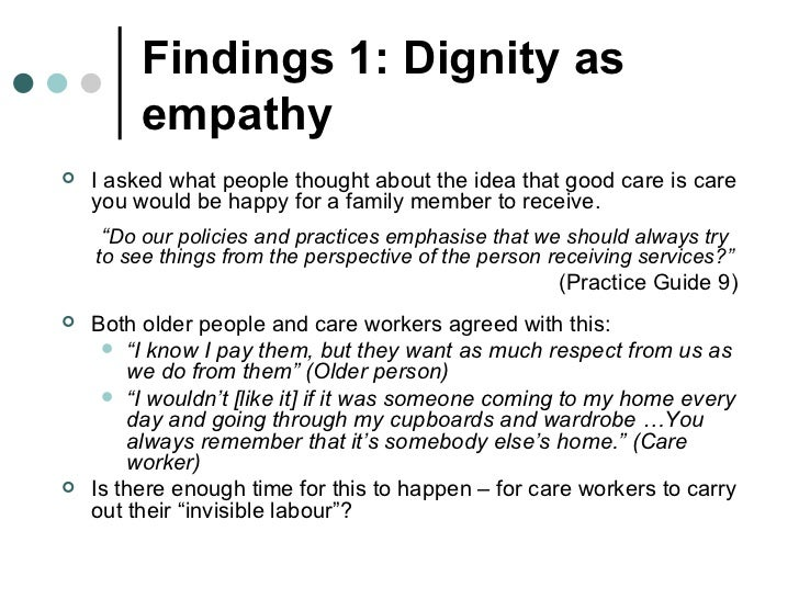 dignity in nursing essays Free nursing dignity papers, essays, and research papers.