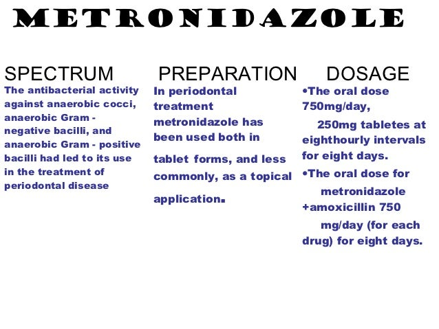 Dose and Duration of Metronidazole and Amoxicillin for Treatment of Chronic Periodontitis