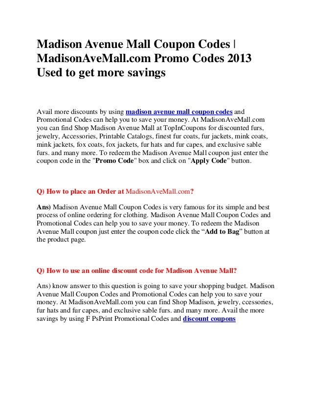 Aj madison coupon discount code