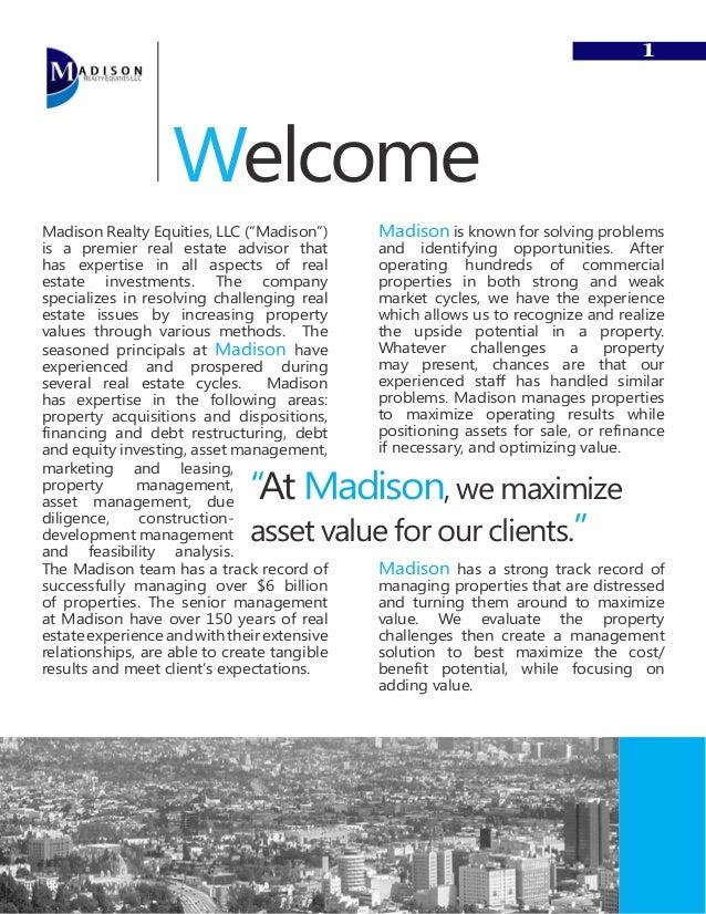 Madison Company Booklet 2011