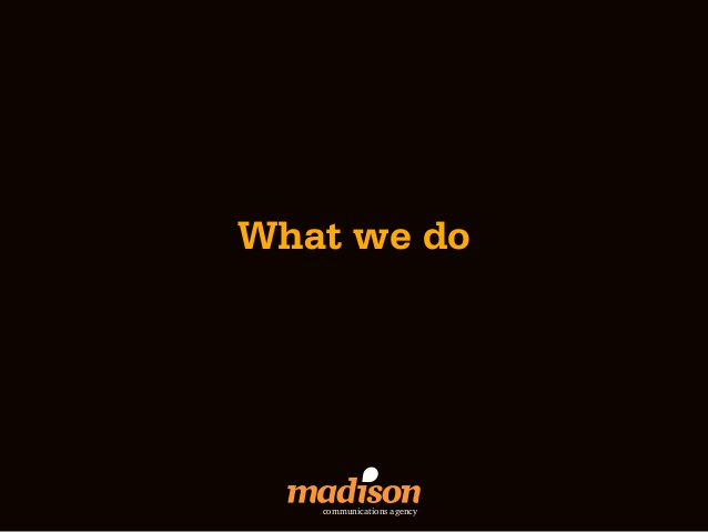 What we do   communications agency