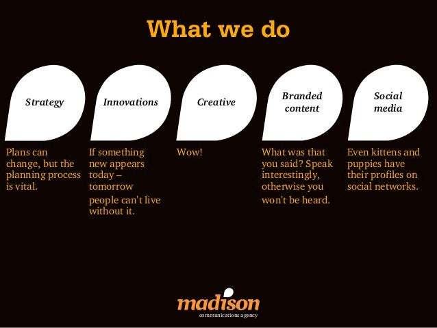 What we do                                                                      Branded             Social    Strategy    ...
