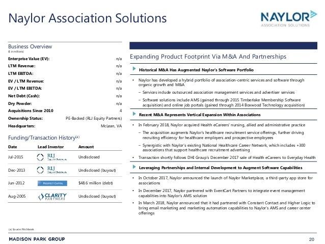20 Naylor Association Solutions • Naylor has developed a hybrid portfolio of association-centric services and software thr...