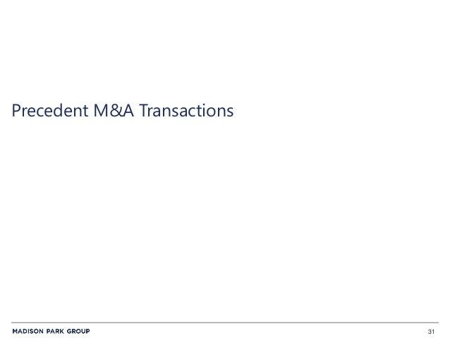 31 Precedent M&A Transactions