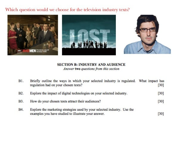 Which question would we choose for the television industry texts?