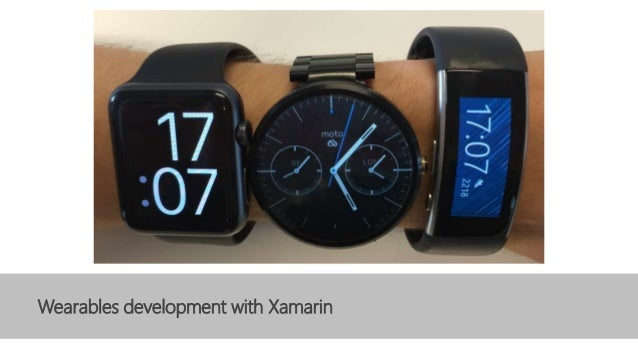 Wearables development with Xamarin
