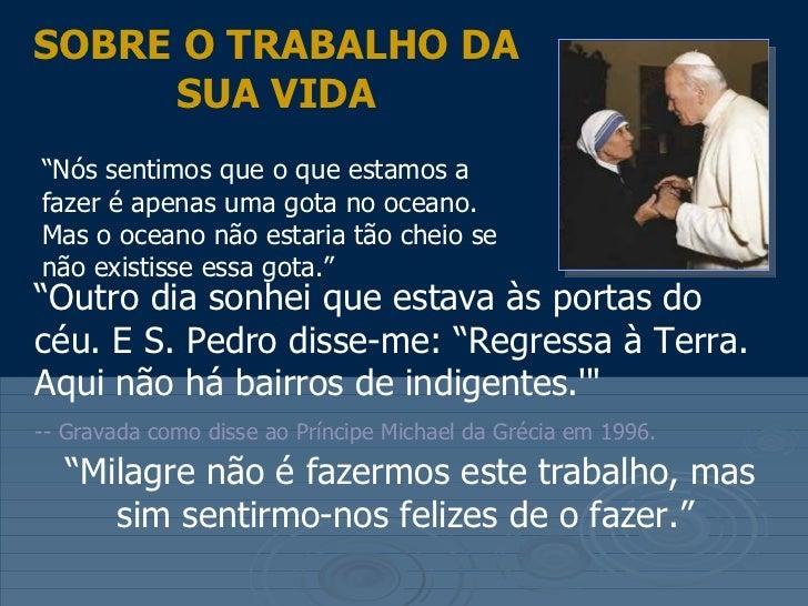 Uma Gota No Oceano Madre Teresa: Alguns Pensamentos De Madre Teresa