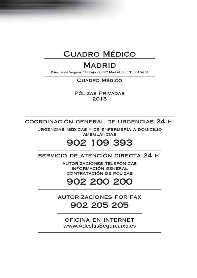 Cuadro Medico Adeslas Madrid