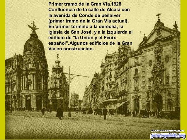 Primer tramo de la Gran Via.1928 Confluencia de la calle de Alcalá con la avenida de Conde de peñalver (primer tramo de la...