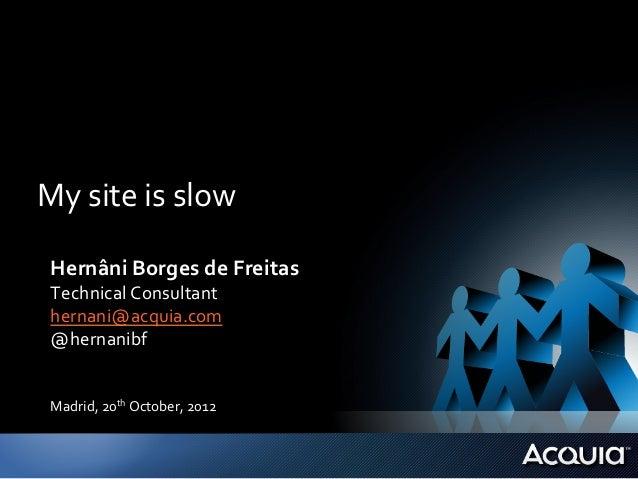My site is slow  Hernâni Borges de Freitas  Technical Consultant  hernani@acquia.com  @hernanibf  ...