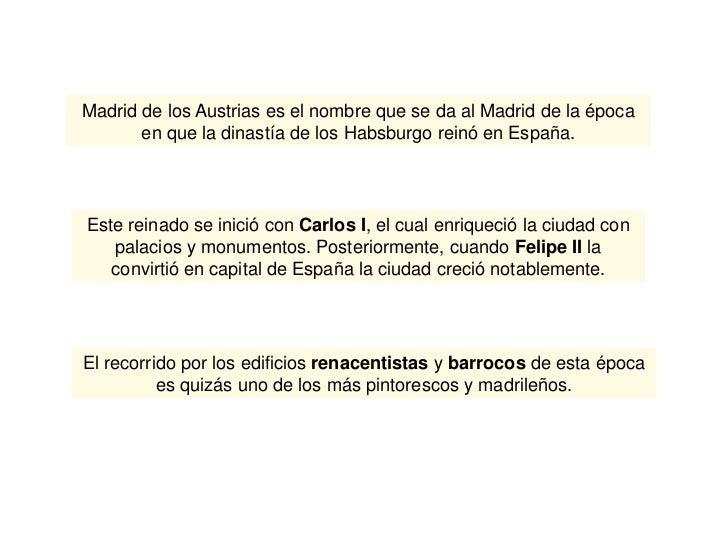 Madrid de los austrias Slide 2