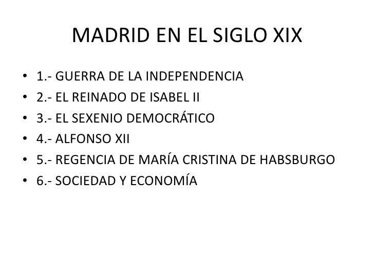 Madrid En El Siglo XIX Slide 2