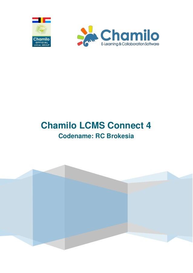 Chamilo LCMS Connect 4 Codename: RC Brokesia