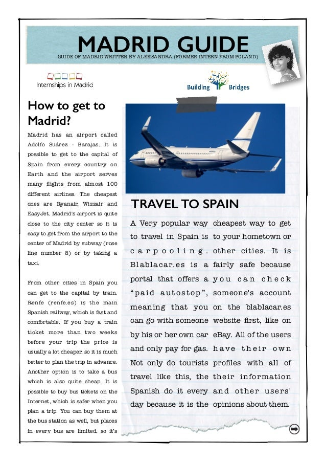 Madrid guide internships in madrid