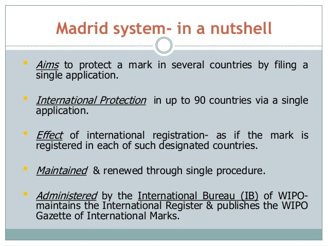 India and the Madrid system for international registration ...