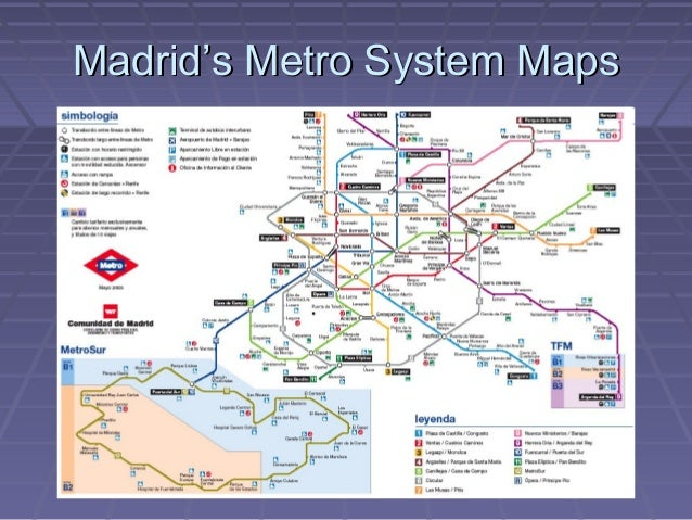 Madrid S Metro System Map 2008