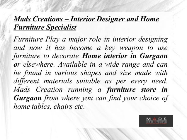 2 mads creations interior designer and home furniture specialist - Furniture Specialist