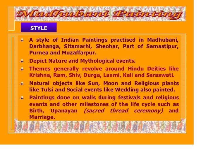 STYLEA style of Indian Paintings practised in Madhubani,Darbhanga, Sitamarhi, Sheohar, Part of Samastipur,Purnea and Muzaf...