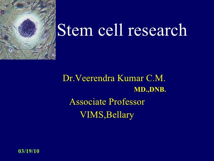 Thesis on stem cell research