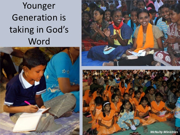 Younger Generation istaking in God's Word McNulty Ministries