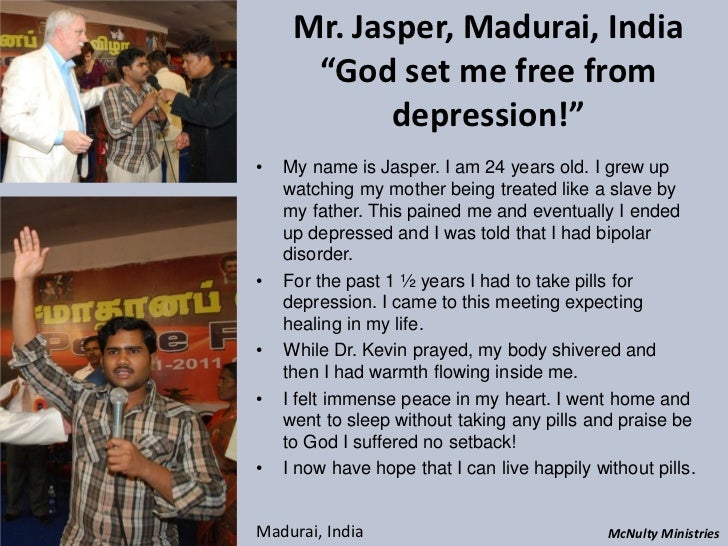 "Mr. Jasper, Madurai, India ""God set me free from depression!""• My name is Jasper. I am 24 years old. I g..."