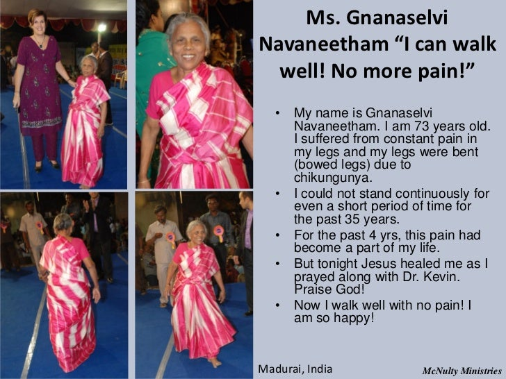 "Ms. GnanaselviNavaneetham ""I can walk well! No more pain!"" • My name is Gnanaselvi Navaneetham. I am 73 years o..."