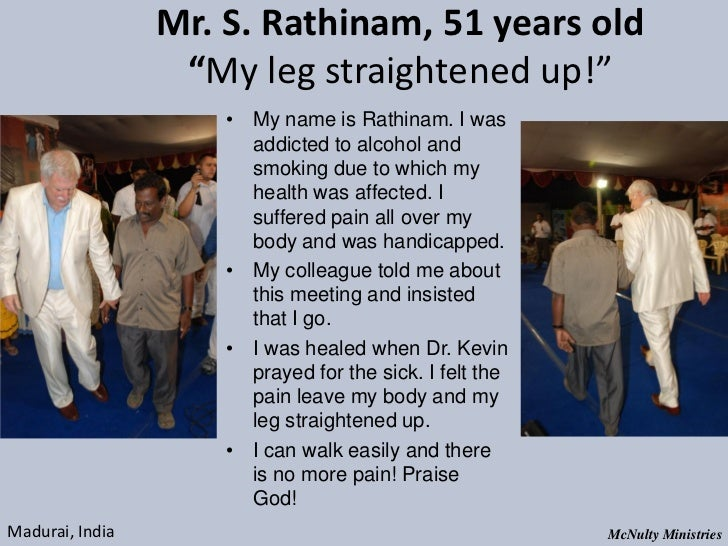 "Mr. S. Rathinam, 51 years old ""My leg straightened up!"" • My name is Rathinam. I was ..."