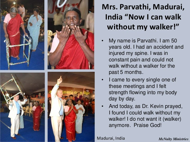 "Mrs. Parvathi, Madurai, India ""Now I can walk without my walker!"" • My name is Parvathi. I am 50 years old. I had a..."