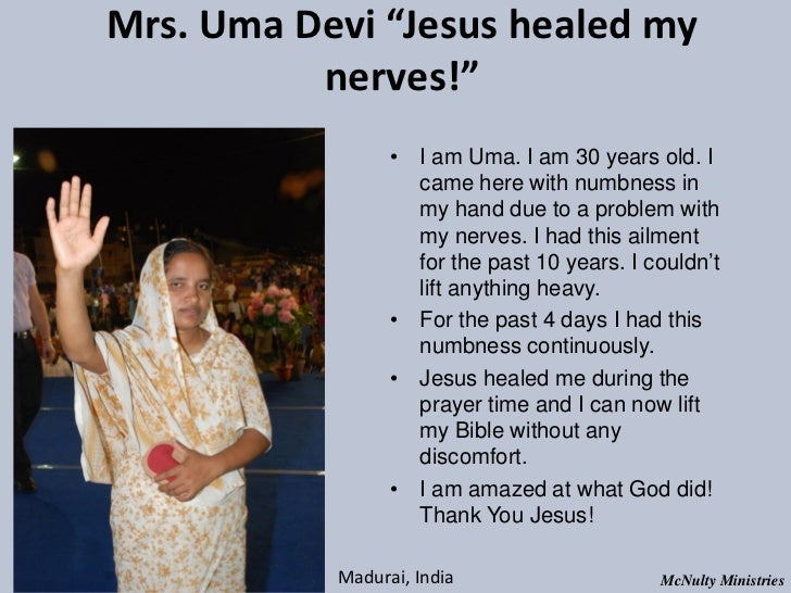 "Mrs. Uma Devi ""Jesus healed my nerves!"" • I am Uma. I am 30 years old. I came h..."