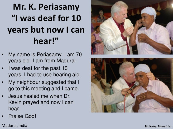 "Mr. K. Periasamy ""I was deaf for 10 years but now I can hear!""• My name is Periasamy. I am 70 years old. I ..."