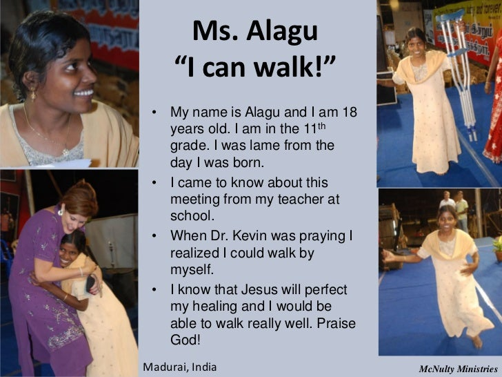 "Ms. Alagu ""I can walk!"" • My name is Alagu and I am 18 years old. I am in the 11th grade. I was lame from the da..."