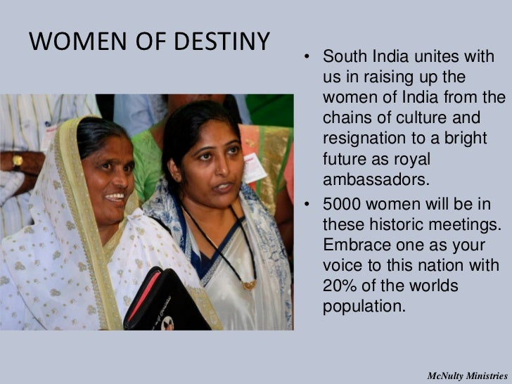 WOMEN OF DESTINY • South India unites with us in raising up the women of India f...