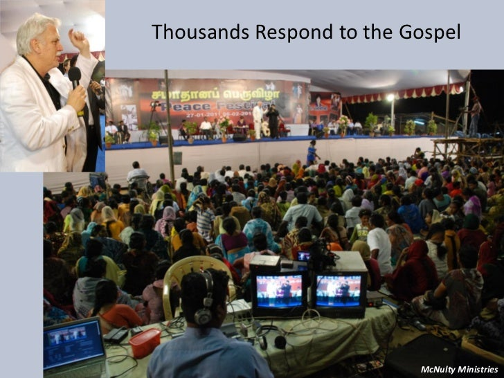 Thousands Respond to the Gospel McNulty Ministries