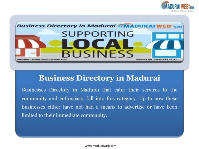 Local Business Directory in Madurai