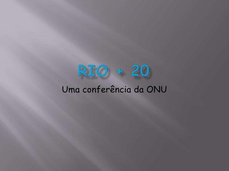 Uma conferência da ONU