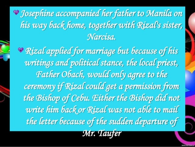 Would you agree that rizal would