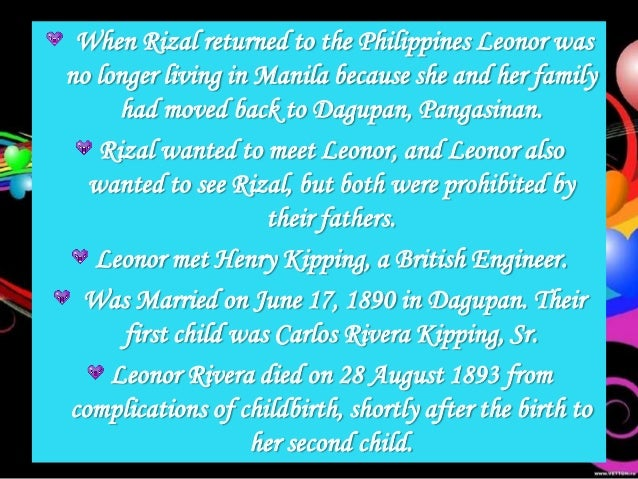 the secrets of rizals family Rizal's diaries on the confiscation of his diary  last descendant of a noble family, faithful to an unfortunate vengeance, you are lovely like everything has.