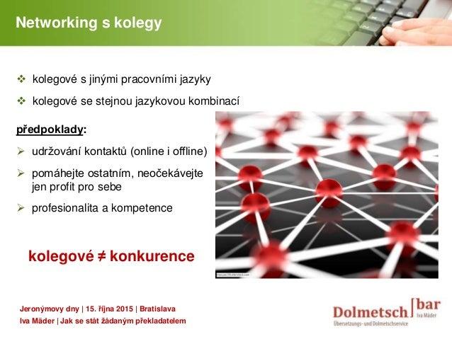 YOUR LOGO Networking s kolegy  kolegové s jinými pracovními jazyky  kolegové se stejnou jazykovou kombinací předpoklady:...