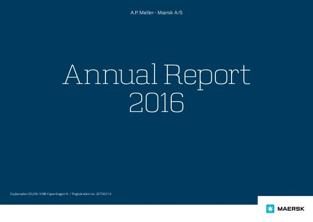 Maersk Oil Annual Results Report Presentation - 2016