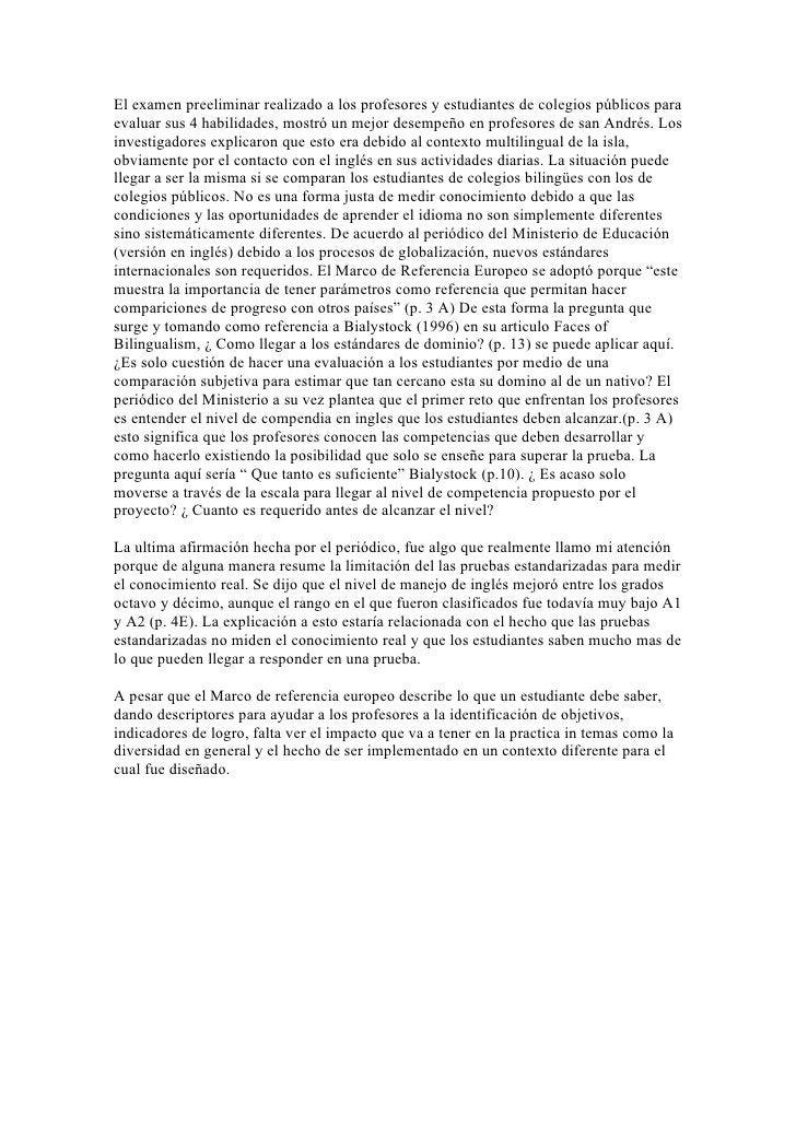 MaestríA Curriculum Pruebas Estandarizadas