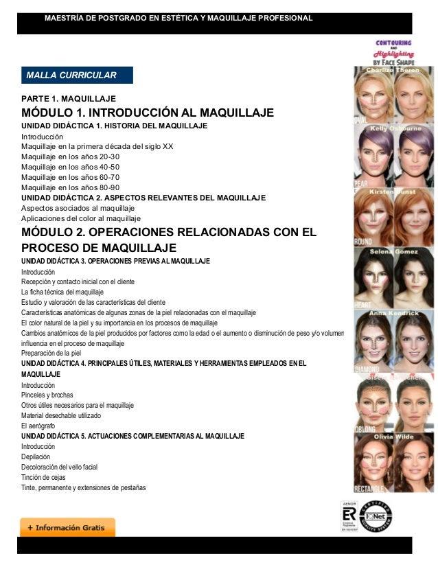 9c1b28bb9 MAESTRÍA DE POSTGRADO EN ESTÉTICA Y MAQUILLAJE PROFESIONAL; 3.